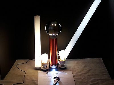 Large Tesla Coil With Stainless Steel Top Load,Plus Extras Included Made in USA