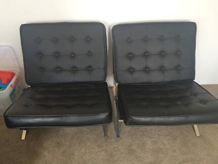Up For Sale Two Barcelona Chair.Each For $150two For $300Very Rarely Used  And In Good Condition.Call/SMS Only ******8423 + Click To Reveal