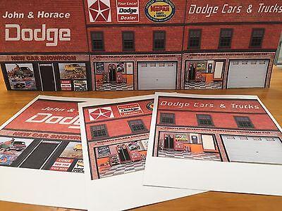 - Papercraft 1974-1977 Dodge Dealer Background Scenery Featuring Dodge Van Ads