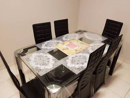 Dinning table with 6 chairs + Side table + Corner table
