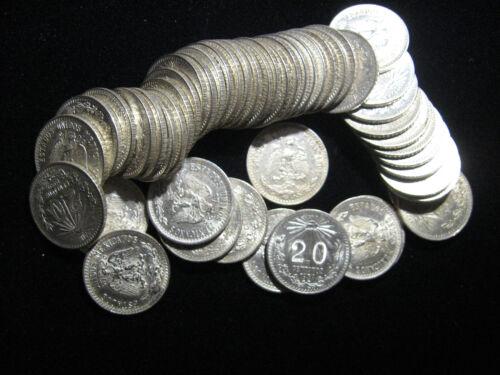 1939 MEXICO .720 SILVER 20 CENTAVOS NICE CHOICE UNCIRCULATED