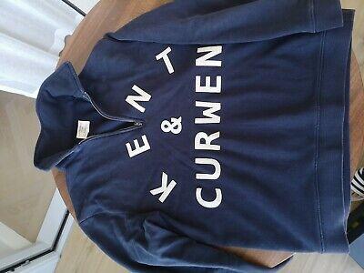 Kent and Curwen Zip Sweatshirt Navy, Medium, Very Good Condition