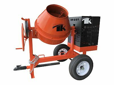 7 Cu Ft.0 Towable Steel Drum Concrete Cement Mortar Plaster Mixer W Honda