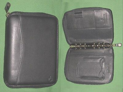 Pocket 1.0 Black Leather Franklin Covey Planner Binder Space Maker Pda Cell