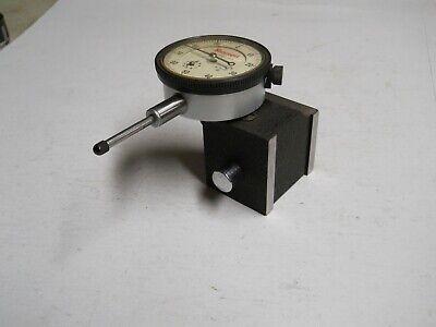 Starrett 25-441 Dial Indicator W657 Magnetic Base .001  1 Range  Used