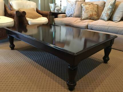 Coffee table - beautiful solid yellowood painted black