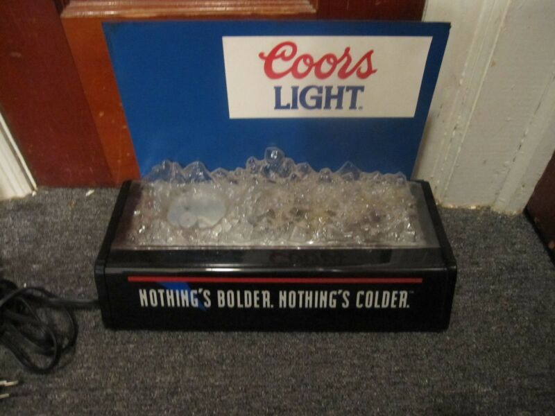 Coors Light Lighted Beer Bottle Display Sign