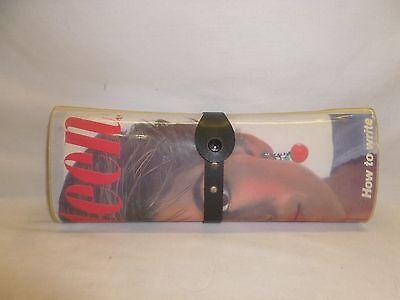 Vtg 70s Mod Chic 17 Seventeen Fashion Magazine Hand Bag Purse Hard Case Clutch