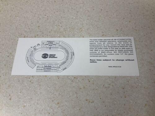 1997 Nascar Winston Cup Series Food City 500 Racing Ticket Bristol Speedway  - $25.00