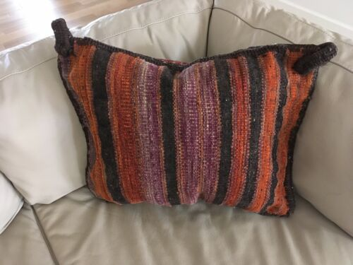 Vintage+Hand+Woven+Wool+Kilm+Pillow%2FTextile+Art%2F+Bohemian+Home+Decor%2FFiber+Art