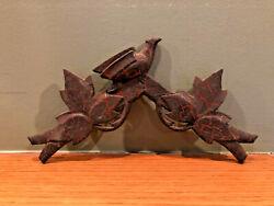 Antique Early German Black Forest Cuckoo Clock Bird Crest Topper