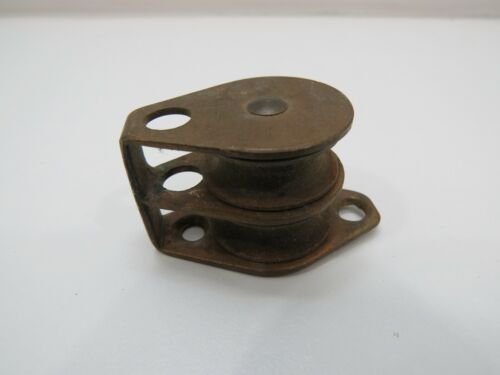Antique 1 inch Bronze Double Sailing Pulley (XC4B272)