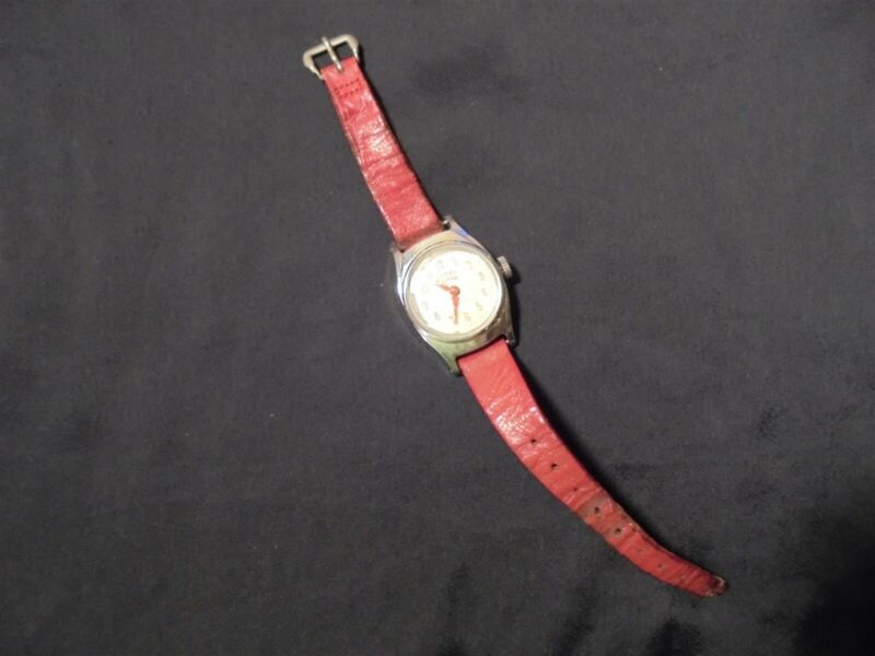 Vintage MICKEY MOUSE Ingersoll Watch with Original Band US TIME Disney WORKING