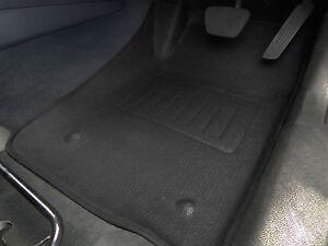 Holden VE Commodore 3D moulded Car Floor Mats FRONT Black RUBBER VINYL 2005-2013