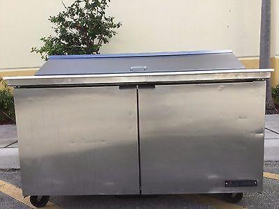 True Tssu-60-16-60 Two Door Height Sandwich Salad Prep Refrigerator