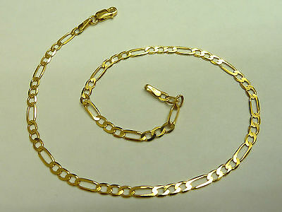 New 9ct Solid Gold Figaro Chain Anklet  2.3 grams