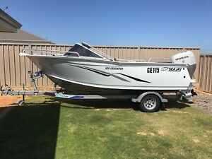 Alluminum Sea Jay 520 with Honda 115 in great condition