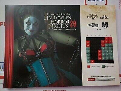 Universal Orlando Halloween Horror Nights 2016 HHN26 Chance Event Map IN STOCK