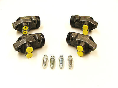 SET 4 FRONT WHEEL  CYLINDERS FOR TRIUMPH HERALD  ALL MODELS WITH DRUM BRAKES
