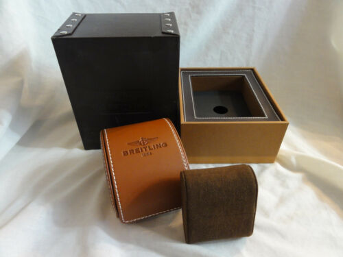 BREITLING Storage / Presentation Box ~ Brown Leather with Travel Case