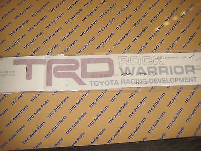 Toyota Tundra Rock Warrior TRD Decal Sticker Bed Side Decal Tundra Tacoma OEM