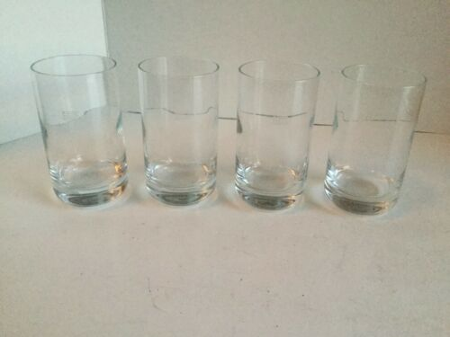 "4 VINTAGE US AIR AIRWAYS AIRLINES drinking Water GLASS Airlines rare 4.5"" tall"