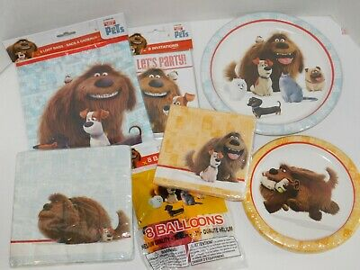 The Secret Life of Pets Birthday Party Plates Napkins Goody Loot Bags Birthday Treat Plate