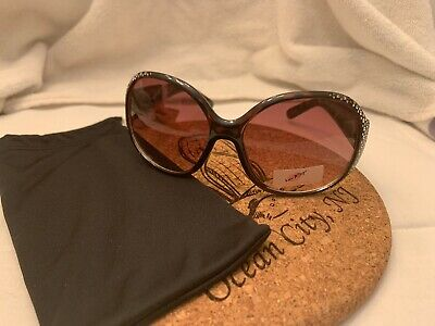 NWT BETSEY JOHNSON LUV BETSEY Tortoise Crystal Embellished (Johnson Sunglasses)