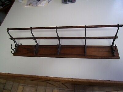 New Wooden Wall Mounted Thick Mild Steel Painted Hat Coat Hooks Hanging Rack
