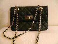 Borsa Matelasse Nera Catena Dorata Topshop Golden Chain Black Bag - catena - ebay.it