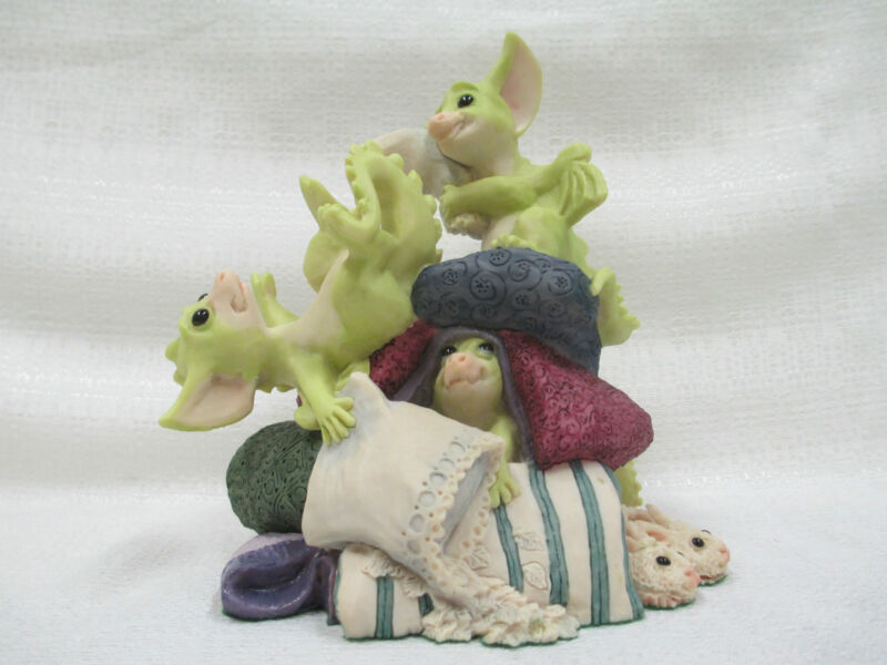 Whimsical World Of Pocket Dragons Pillow Fight by Real Musgrave
