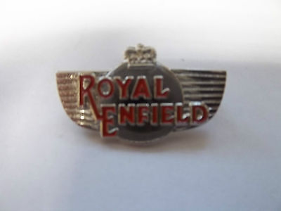 MOTORCYCLE PIN BADGE 'ROYAL ENFIELD' WING MOTORBIKE LAPEL BADGE - BG79