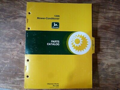 John Deere 1209 Mower-conditioner Parts Catalog Manual Book Original Pc-1380