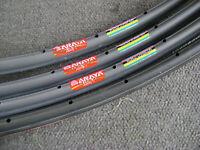 "NOS Rare 80s Araya Aero 4 24/"" 28h Track//Time Trial Tubular Bicycle Rim Japan"