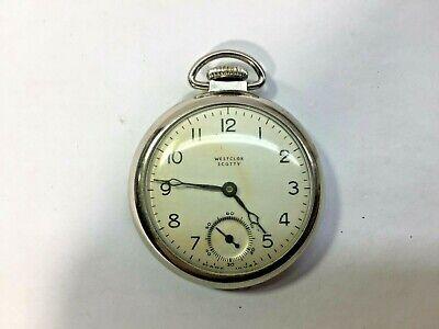 Vintage Westclox Scotty Mechanical Pocket Watch - Working - U.S.A.!
