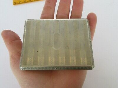 Antique Art Deco BM Co Silver Plate Cigarette Case