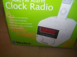 Vextra AM/FM iPod Compatible Clock Radio -NEW IN BOX