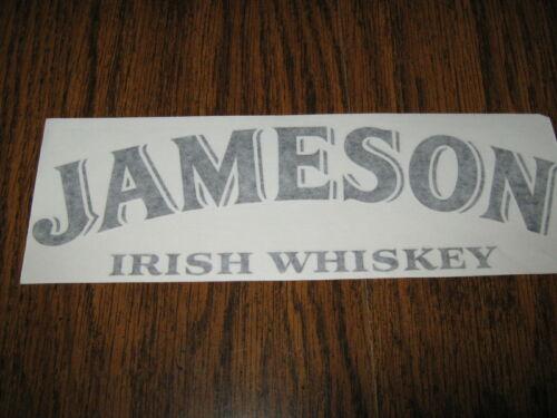 JAMESON IRISH WHISKEY - VINYL STICKER - IN BLACK - NEW