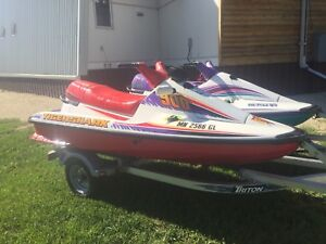 Arctic Cat TigerShark Jet Skis + 2012  Aluminum Triton Trailer