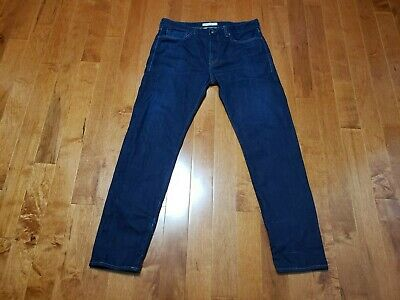Levi's Made And Crafted Selvedge Denim Shuttle Jeans men 34x32 measured dark