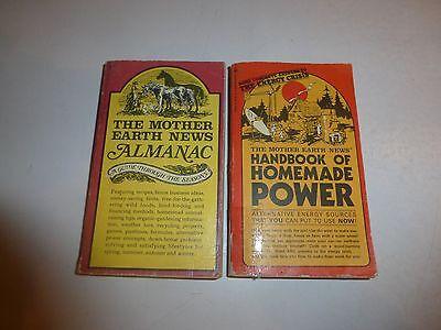 2 Lot The Mother Earth News Handbook Of Homemade Power   Almanac Pb  B245