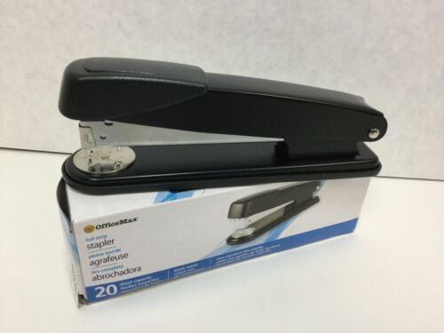 OfficeMax Full Strip Stapler, Standard Stapler, 20 Sheet Capacity, Black Metal