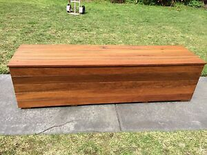 Spotted Gum & Merbau storage box / bench seat Upper Ferntree Gully Knox Area Preview