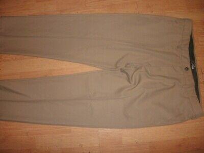 Haggar Regular Fit Flat Front Comfort Waist Washable Dress Pants 40x30 (B65) - Haggar Comfort Fit