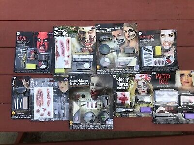 Lot of Different Halloween Makeup kits NEW Devil Nurse Vampire Zombie](Zombie Halloween Makeup Kits)