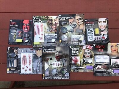 Lot of Different Halloween Makeup kits NEW Devil Nurse Vampire Zombie - Halloween Makeup Zombie Nurse
