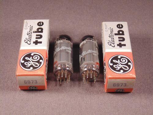 2 6973 GE HiFi Radio Amp Vintage Fairchild Vacuum Tubes Matching Codes SJ NOS