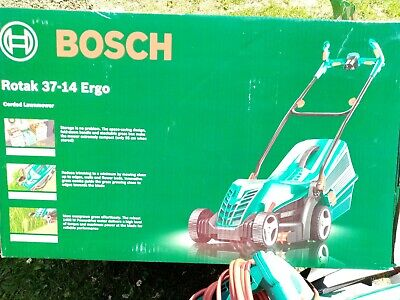 Bosch rotak 37-14 ergo corded electric mower. Only used twice. Still have box.