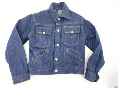 VINTAGE ORIGINAL JCP RANCHCRAFT KIDS DENIM JACKET PLEATED 1960