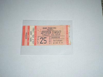 Jefferson Starship Concert Ticket Stub-1981-Modern Times Tour-Grace Slick-NM